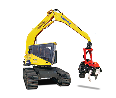 Komatsu XT430-3 isolated on white background